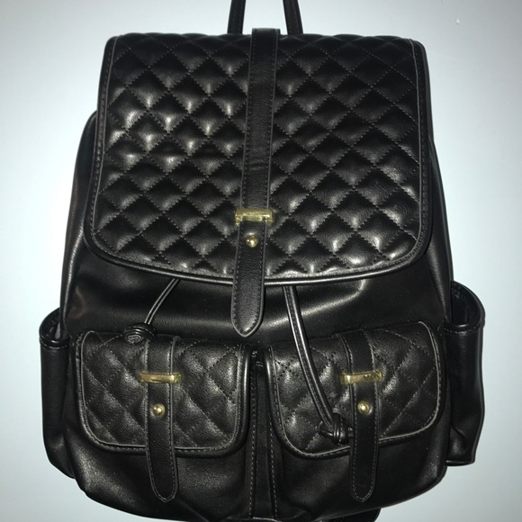 838ff39e6 Mossimo Supply Co. Bags | Mossimo Quilted Leather Look Backpack ...